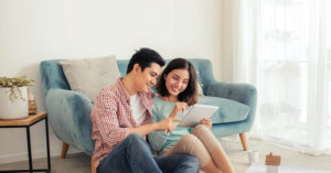 Couple Buying New Launch Condo and talking about the Progressive Payment Scheme