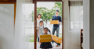 a family moving in to a new apartment - hdb ownership transfer to husband due to divorce
